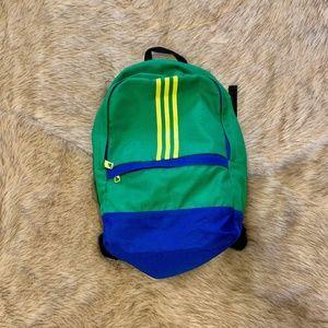 Adidas Green Blue and Yellow Backpack Bookbag